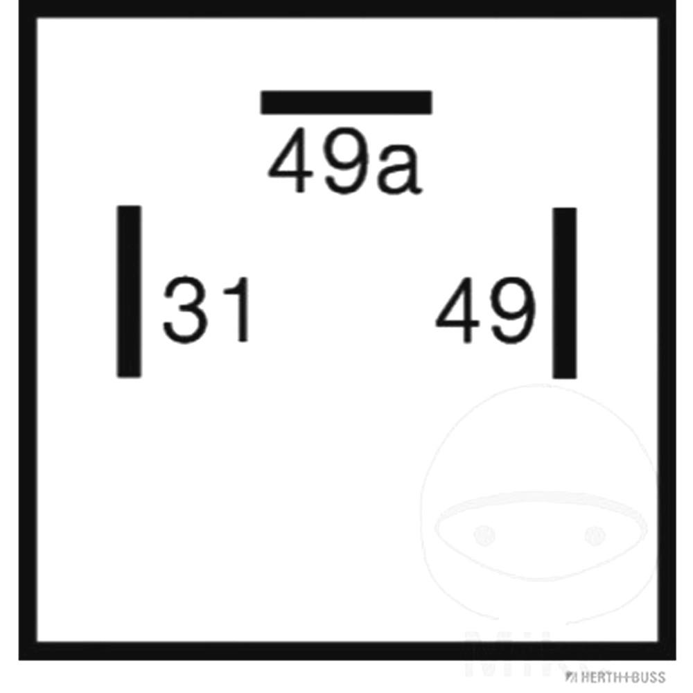 Indicator Relay 3-Pin 12V  For Hercules 108.21.14