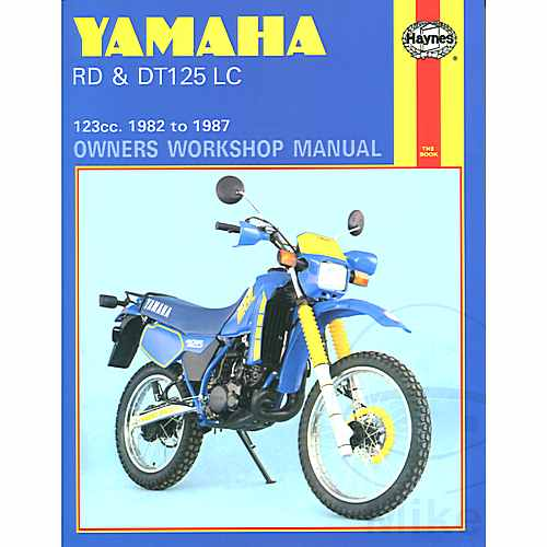 Haynes Repair Manual Yamaha Rd & Dt125Lc 1982 - 1987  For Yamaha 702.50.51