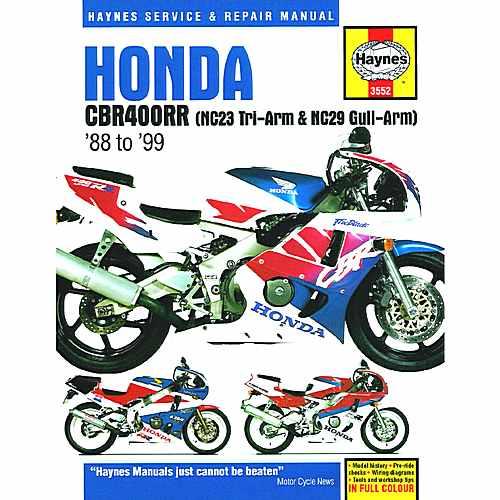 Haynes Repair Manual Honda Cbr400Rr Fours (88 - 99)  For Honda 702.51.30