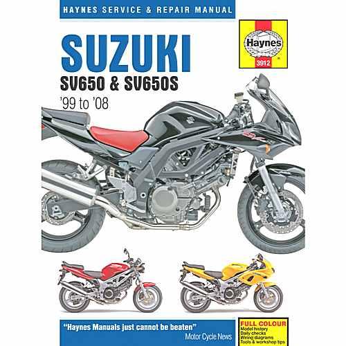 Haynes Repair Manual Suzuki Sv650 & Sv650S (99-08)  For Suzuki 702.51.46