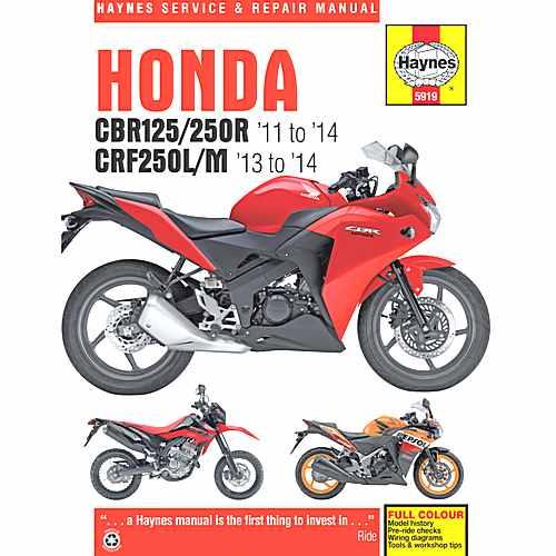 Haynes Repair Manual Honda Cbr125R/250R &Crf250L/M  For Honda 702.52.13