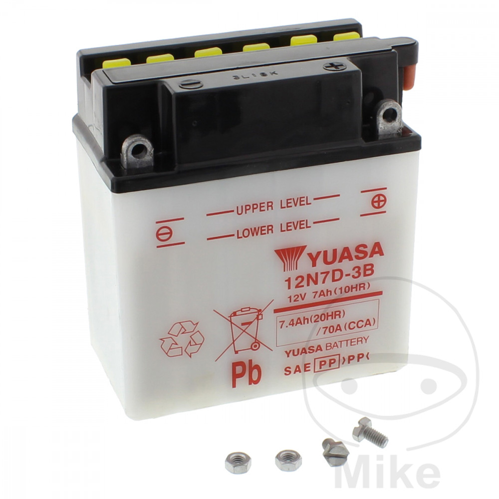 Battery Motorcycle 12N7D-3B Yuasa  For Yamaha 707.00.06