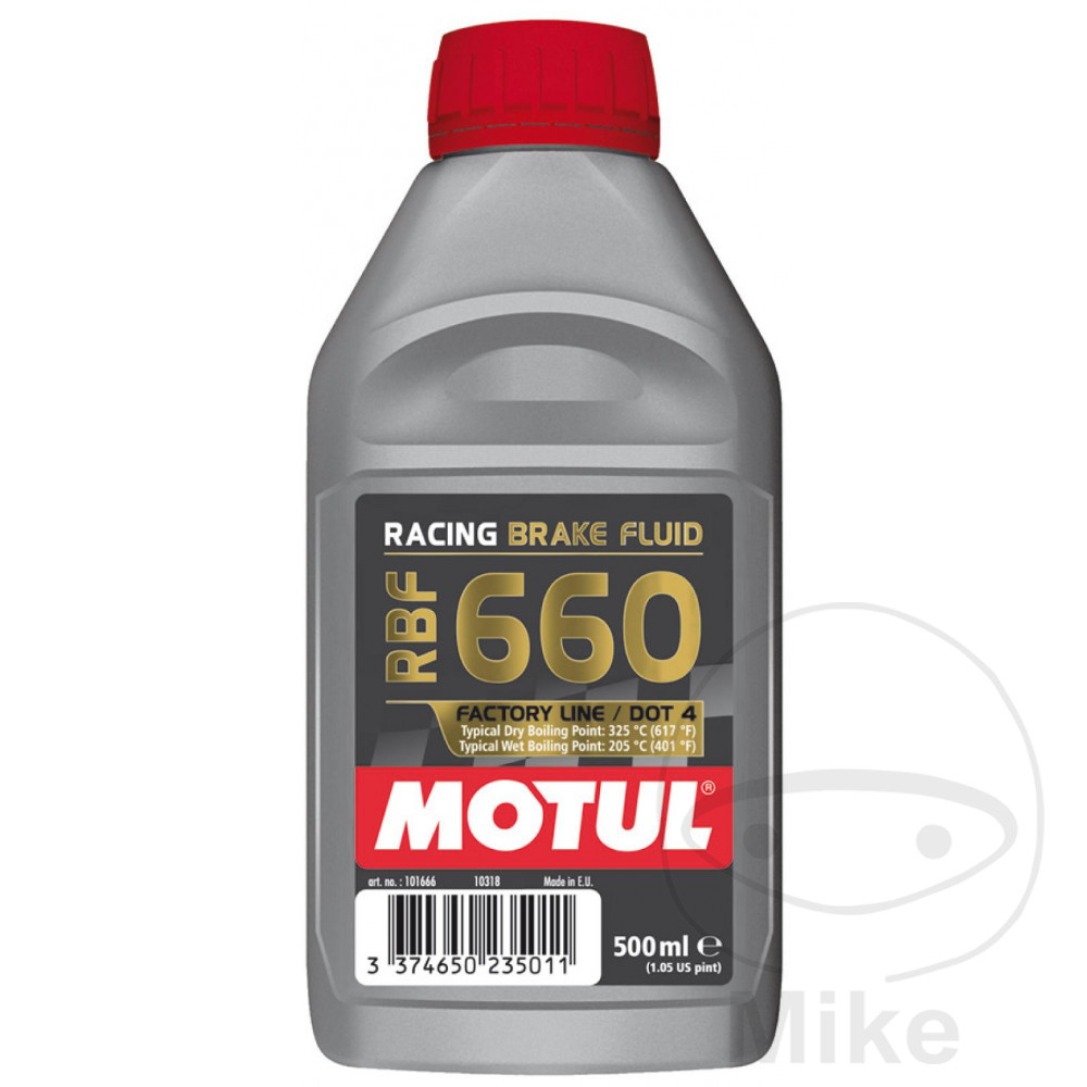 Brake Fluid Dot4 0.5L Motul Rbf 660 Racing 714.01.96