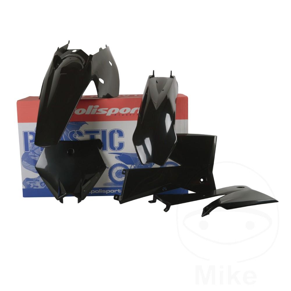 Complete Plastics Kit Black Polisport  For KTM 716.03.64