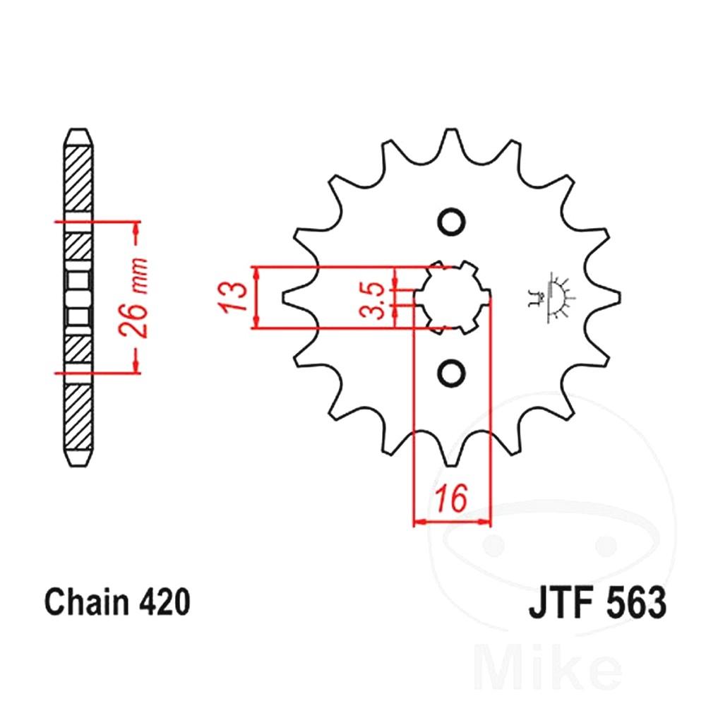 Front Sprocket 12 Tooth Pitch 420 Large Spline 3.5 MM 13/16  For Suzuki 726.23.14