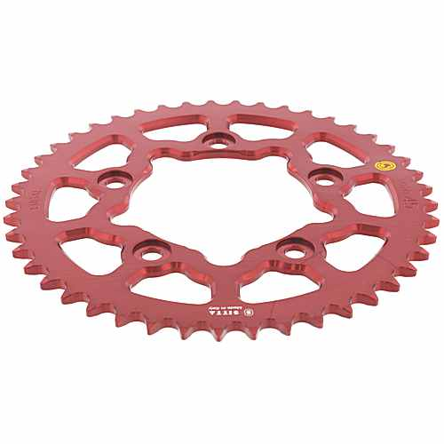 Rear Sprocket aluminium 45 Tooth Pitch 520 Red Esjot ID 100 Spacing 124  For Ducati 758.11.89