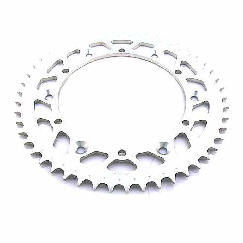 Rear Sprocket aluminium 47 Tooth Pitch 520 Silver ID 152 Spacing 175  For Sachs 758.63.65