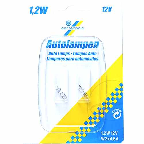 Bulb 12V 1.2W W2X4.6D Ct Twin Blister Pack Premium Quality Use 1597673  For Suzuki 159.36.23