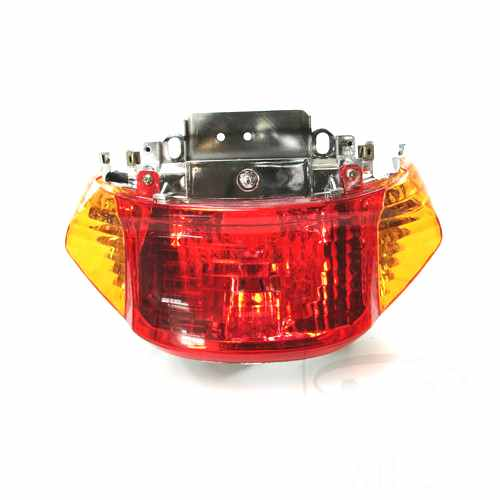 Tail Light Complete With Bulbs Yellow Indicator  For Jinlun 705.04.46
