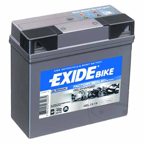 Battery Motorcycle Gel 519901 Exide Filled & Charged  For BMW 707.26.55