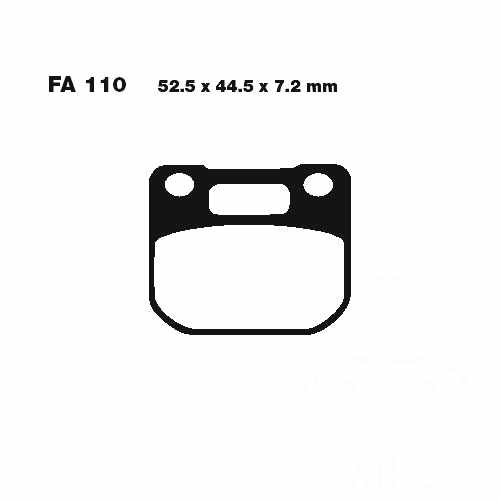 Brake Pads Standard EBC  For Suzuki 732.54.00