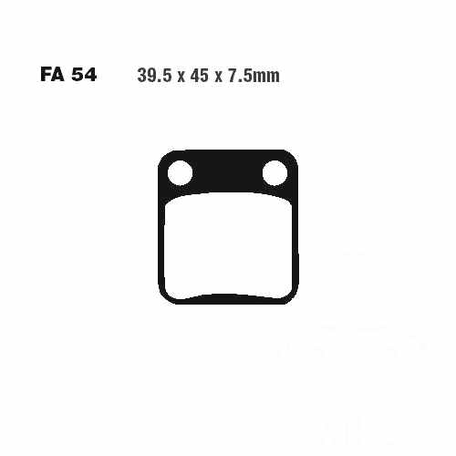 Brake Pads Sintered Hh EBC  For Hyosung 732.39.59