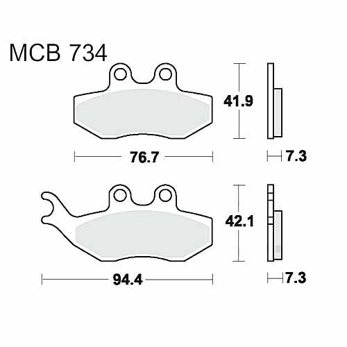 Brake Pads Standard TRW  For HM Moto 787.00.90